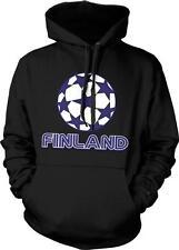 Soccer Ball Finland Suomi Suomen Jalkapallo Lippu Finnish Pride Hoodie Pullover