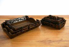Tablett aus Holz im 3er Set, Serviertablett, Dekoschale, Obst / Gebäckschale