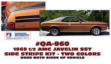 QA-960 1969½  AMC - AMERICAN MOTORS - JAVELIN SST -  SIDE STRIPE DECAL