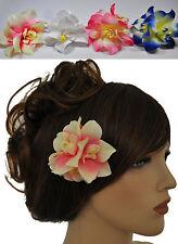 Pince à cheveux fleur Hawaii à broche épingle 4 COULEURS AU CHOIX NEUF