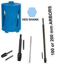 GAMBO ESAGONALE RACCORDO Diamond Core Drill Bit per cemento pietra. fino a lungo 600 mm