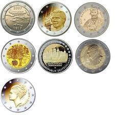 2 euro pièce commémorative 2007 neuve LUXEMBOURG, PORTUGAL, FINLAND , ALLEMAGNE