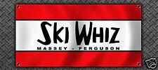 VINTAGE SNOWMOBILE MASSEY FERGUSON GARAGE BANNER