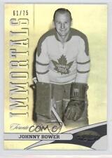 2012-13 Panini Certified Mirror Hot Box #128 Immortals Johnny Bower Hockey Card