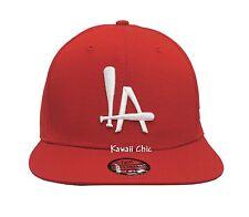 Topcul Rouge la Los Angeles Visière Plate Réglable Batte de Baseball Casquette