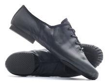 Black PU Lace Up Suede Split Sole Jazz Dance Practice Shoes By Katz All Sizes