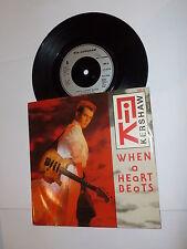 "NIK KERSHAW - When A Heart Beats - 1990 UK 7"" Vinyl Single"
