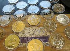 Prova & BU COMMEMORATIVE £ 5 / CROWN monete 1965 - 2015 cinque sterlina -- ROYAL MINT