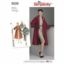 Simplicity sewing pattern 8509 Retro 1950 S Veste/manteau manque 6-14 ou 14-22
