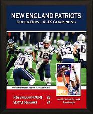 NEW ENGLAND PATRIOTS Super Bowl XLIX Champions 2014 8x10 Tom Brady Plaque