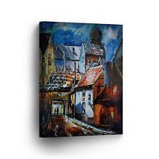 Modern Oil Painting on Canvas Print Wall Decor Art Framed %100 Handmade OPV18