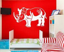 Wall Vinyl Decal Rhino Rhinoceros Safari Africa Wild Animals  z4603