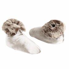 Ardour Velvet Berber Ladies Womens Bedroom Slipper Boots White