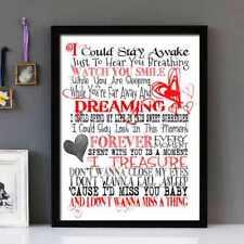 Aerosmith- Don't Wanna Miss A Thing Stunning Framed Lyrics