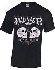 Biker T Shirt da Uomo Retrò Moto Da Donna Grunge Retro ROAD MASTER