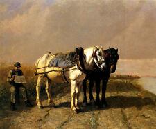 READING LE PETIT JOURNAL HORSES WHEAT FARMING FRANCE BY JULES VEYRASSAT REPRO