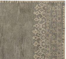 New Desa Grey Boarder Contemporary Style Handmade 100% Wool Area Rugs & Carpet
