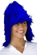 (40815 blue) Zottel plush Hat - Smurf hat - Carnival Wig