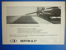 4/1971 PUB BERTIN et Cie THERMOSOUFFLANTE TSII  DENEIGEUSE AEROPORT ORIGINAL AD