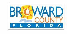 Broward County Florida Sticker Decal R823