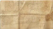 PAPIER ANCIEN SUR PEAU CONDAMNATION DE PAIEMENT GENERALITE DE MONTAUBAN 1733