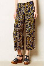 Cartonnier Sampa Culottes Pants Sizes 4, 8 Blue Motif NW ANTHROPOLOGIE Tag