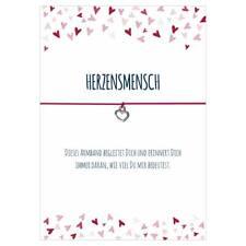 """Wunscharmbänder Armband  """"Herzensmensch"""" Herz Anhänger  - Glücksschmiedin"""