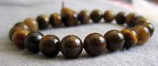 Buddha-Armband aus Tigerauge braun 15 bis 20 cm / Südafrika - Power-Beads.