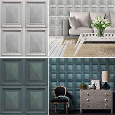 Marble Effect Wood Panel Faux Luxury Wallpaper Paste The Wall Vinyl Erismann