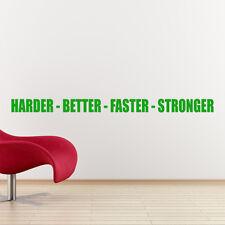 Mejor Más Rápido más fuerte adhesivo de Pared Deporte frase de Gimnasio W149
