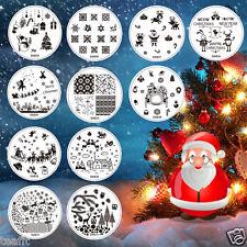 2018 Christmas Santa Stamping Plates Tree Snow Snowflake Gift Image Template