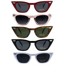 Womens Art Deco Mod Squared Cateye Goth Sunglasses