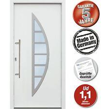 Hochwertige Aluminium Haustür 98 x 208 cm weiß Modell JWC06 NEU Lagerware