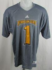 Kennesaw State Owls NCAA Mens Adidas Gray/Gold Jersey #1 M L XL 2XL