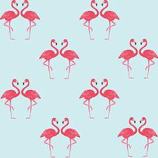 Flamingo Bird Printed Pink Wall Sticker Decal - Great Wallpaper Alternative