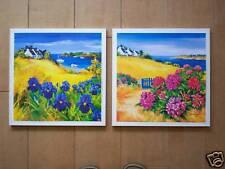 Paysage art breton tableau fleurs maison déco Bretagne
