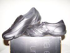 Women's size 6 NEW Fila Armonia Black Leather Shoes with Grey Trim