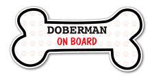 Funny Dog Bone- Doberman on Board Vinyl Car Decal Sticker Pet Lover