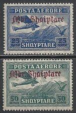 Albania stamps 1929 Mi 212-213 Mlh Vf