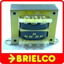 TRANSFORMADOR DE ALIMENTACION 220VAC A 6V+6V 2A 12V 1.2A CHASIS ABIERTO BD8289