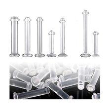 1,2 oder 1,6mm Bio Plastik Piercing Retainer Lippe Ohr Zungenpiercing