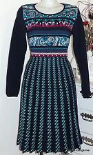KOOI knitwear Weihnachts Kollektion Strickkleid Kleid Blau marine navy dc 15102