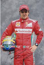 Felipe Massa mano firmado F1 2012 Ferrari Foto 12x8 2.