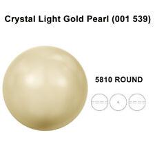 CRYSTAL LIGHT GOLD PEARL (001 539) Genuine Swarovski 5810 Round *All Sizes