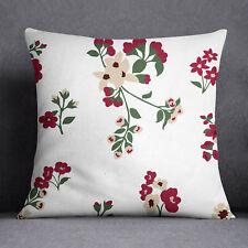 S4Sassy Housse de coussin en coton décoratif à motifs floraux décoratifs blanc