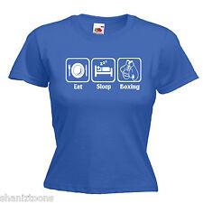 Boxing Boxer Ladies Lady Fit T Shirt 13 Colours Size 6 - 16