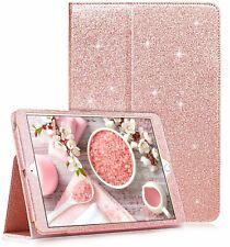 Genuine Bling Glitter iPad Book Case Cover For Ipad Air, Air2 9.7 2017-18 Mini12