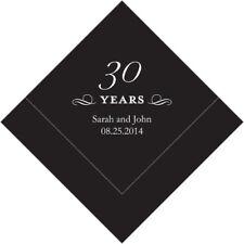 100 Printed 30th Anniversary Birthday Luncheon Napkins