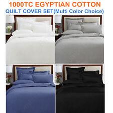 1000TC EGYPTIAN COTTON AUS Size Quilt/Duvet Cover+Pillowcases Set(Multi Color)