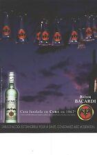 PUBLICITE ADVERTISING 2003   RHUM BACARDI  casa funda en Cuba alcool